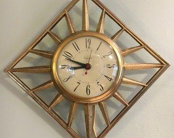 United Sunburst Clock