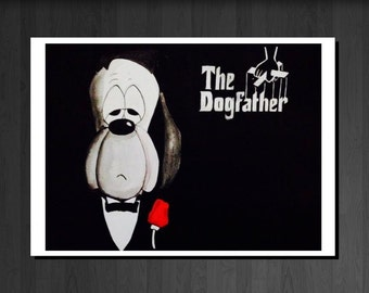 The DogFather Droopy Greetings card