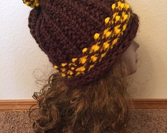Color Block Hat -- a loom knit pattern