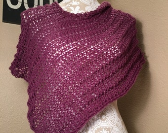 Impatient for Summer Poncho -- a loom knit pattern
