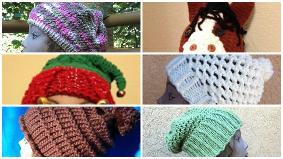 Hats eBook - 6 unique loom knit patterns