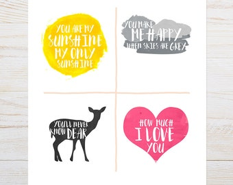 PRINT: Classic + Modern You Are My Sunshine art print