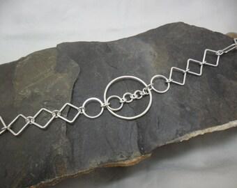 Anklet in sterling silver