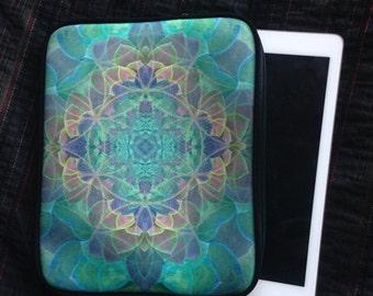 Succulent Print IPAD CASE, iPad Cover, ipad sleeve, Mandala iPad case, iPad 3, iPad 4, Ipad 5, Succulent, pastel mandala, flower of life