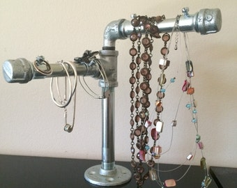 Industrial  pipe jewelry holder