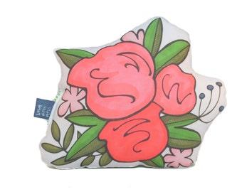 Flower Bouquet Plush Accent Pillow