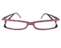 Swarovski Crystal Reading Glasses with open sides - Rose