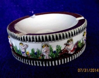 Vintage Ashtray CHILD'S Play ELPA Alcobaca Made in Portugal S.A. LEART Numbered