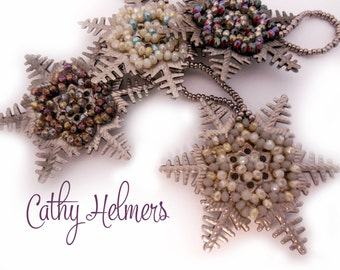 Vintage Wonderland Snowflake Ornament Pattern by Cathy Helmers