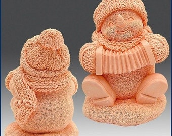 SNOWMAN WITH ACCORDION 3D silicone mold, soap mold, candle mold, christmas mold, santa mold, winter mold
