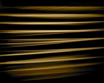 Fine Art Photography, Abstract Art, Macro Photography, 8 x 10 Print, Glass Table Edge, Gold, Black