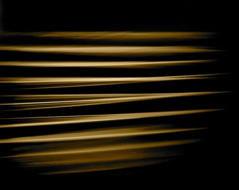 Fine Art Photography, Abstract Art, Macro Photography, 5 x 5 Print, Glass Table Edge, Gold, Black