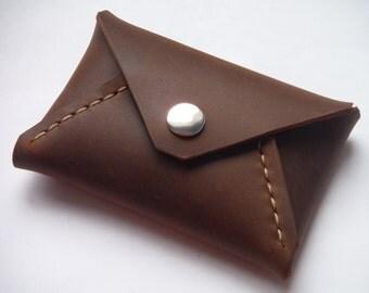 Envelope Card Wallet, Leather card wallet