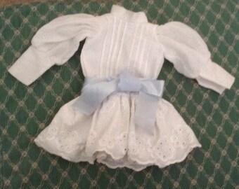 Vintage Victorian Style Eyelet Drop Waist Dress