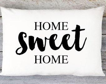 Home Sweet Home Throw Pillow Cover - Lumbar Pillow Cover - By Aldari Home
