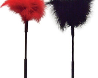 Feather Tickler ---->  Red or Black