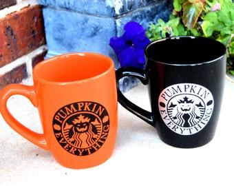 Pumpkin Coffee Mug, Coffee Cup, Pumpkin Everything