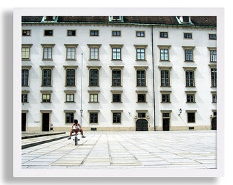 Travel Photography Wall Art Architecture Photography Print White Decor Vienna Austria Hofburg Photo Modern Art Urban Photography Wall Art