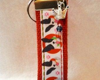 Boston Terrier Key Fob