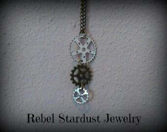 Steampunk gear necklace #1