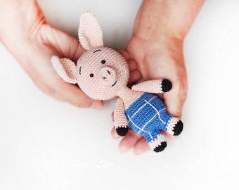 Pattern Amigurumi, Piglet Pattern, plush animal, Crochet for beginners, digital Crochet toy