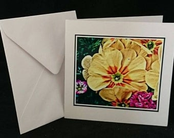 "Photography 5""x5"" Blank Greetings Card,  Flowers (C142016)"