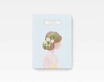 Personalized Illustrated Lady Chloe Notebook Cahier Journal