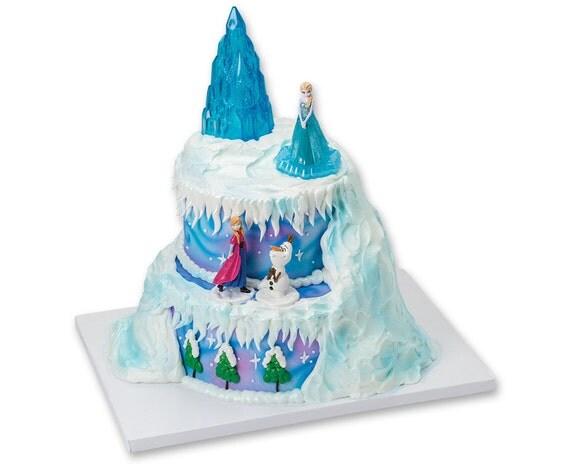 Deluxe Frozen Light-Up Cake Topper Kit/ Frozen Movie Birthday Cake ...