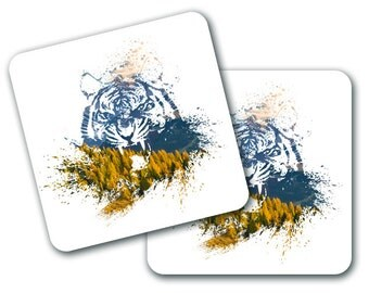 Tiger Quirky Housewarming Coasters (Set of 4) (CO786)