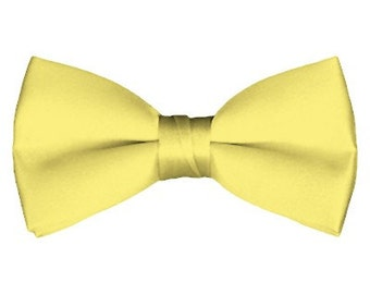 Solid Pre-Tied Baby Yellow Bow Tie