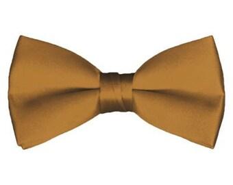 Solid Pre-Tied Copper Bow Tie