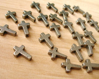 Natural Pyrite Beads Fools Gold Cross Spacer Bead Healing Crystal Wholesale A180-9