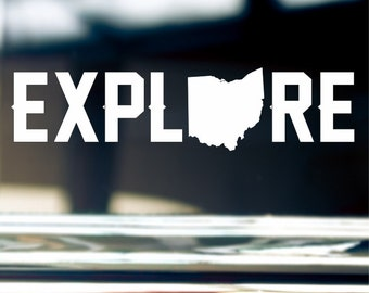 Explore Ohio Sticker Decal For Car Window, Bumper, Or Laptop