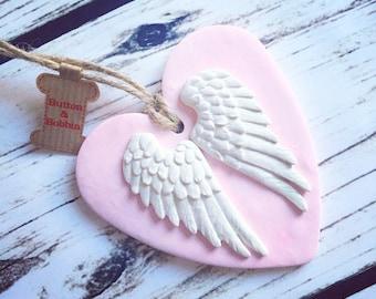 Memorial Angel Wing Heart