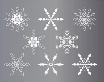Snowflake clipart, clipart snow flakes, christmas clipart,winter clip art,blue snowflakes,green snowflakes,white snowflakes,red snowflakes