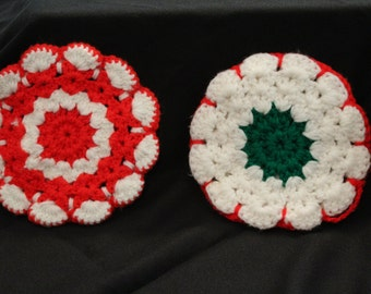 Vintage Crochet Hot Pads