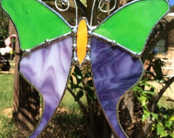Bright and colorful stained glass butterlfies!!