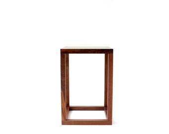 Minimalist Side Table - Solid Walnut