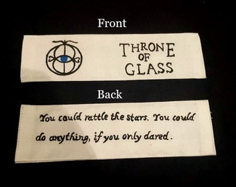 Throne of Glass Fabric Bookmark