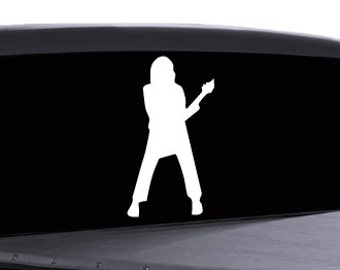 Guitar Player Sticker - Multiple Colors Available - misc (24)