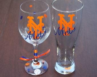 New York Mets Glassware