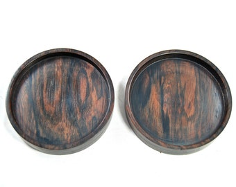 wooden coasters, set of 2 coasters, coasters in teak wood, mid century, home and living, dinner set,