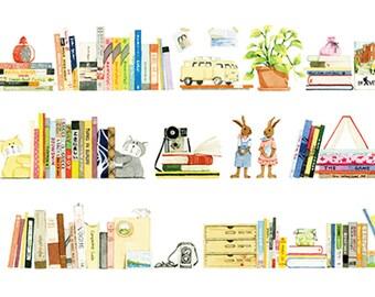 Bookshelf Washi Tape, Bookcase Washi Tape, Library Washi Tape