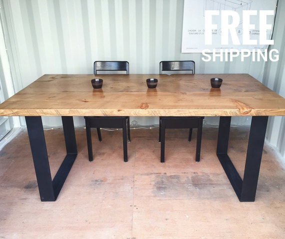 Industrial Wood Table Reclaimed Urban Wood Dining Table : il570xN102855176186zm from www.etsy.com size 570 x 478 jpeg 54kB
