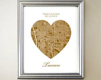 Tucson Heart Map