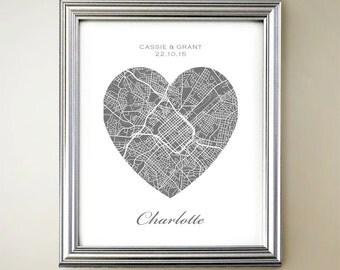 Charlotte Heart Map
