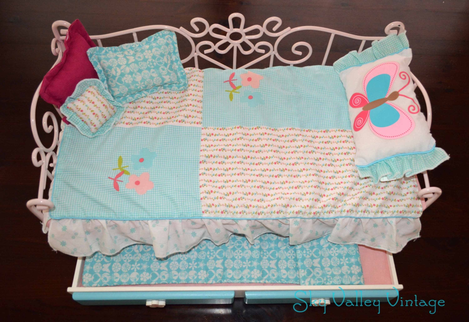 american girl bunk bed american 18 doll metal trundle bunk bed w bedding 11830
