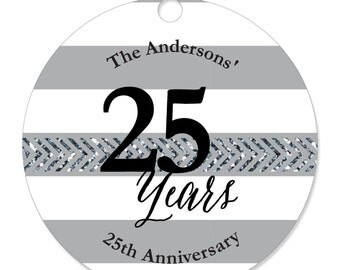 We Still Do - 25th Anniversary Personalized Party Tags - Anniversary or Wedding DIY Craft Supplies- 20 Count