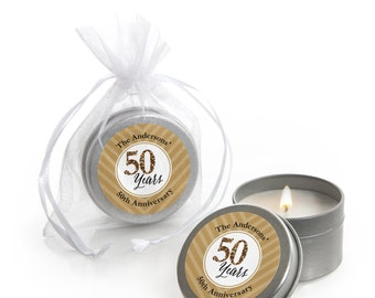 We Still Do - 50th Wedding Anniversary Candle Tin Party Favors - 12 Count