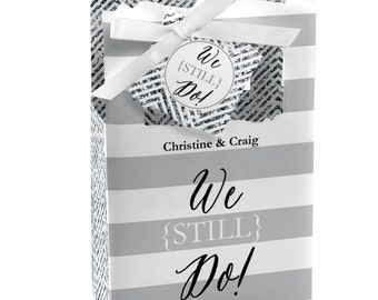 We Still Do - Custom Wedding Anniversary Favor Boxes - Custom Anniversary Party Supplies - Set of 12
